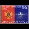 Montenegro 2017 Neuheit NATO Mitgliedschaft Emblem Kompass Atlantik Bündnis