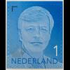Niederlande 2016 Neuheit Freimarke Willem Alexander blau Aufdruck 2016
