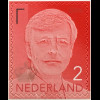Niederlande 2016 Neuheit Freimarke Willem Alexander Rot Aufdruck 2016