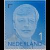 Niederlande 2017 Neuheit Freimarke Willem Alexander blau Aufdruck 2017