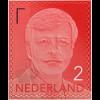 Niederlande 2017 Neuheit Freimarke Willem Alexander Rot Aufdruck 2017