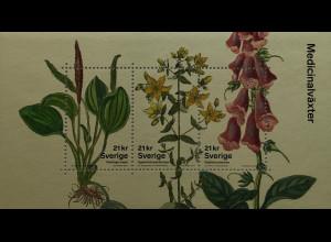 Schweden Sverige 2017 Block 55 Heilpflanzen Breitwegerich Johanniskraut Flora