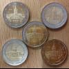 Deutschland 2018 2 Euro Gedenkmünzensatz Bundesländerserie Berlin stempelglanz