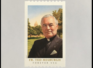 USA Amerika 2017 Nr. 5445 BG Father Theodore Hesburgh Geistlicher Kirche Rolle