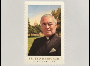 USA Amerika 2017 Nr. 5445 BA Father Theodore Hesburgh Geistlicher Kirche aus MH
