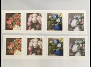 USA Amerika 2017 Nr. 5441-44 Freimarken Gartenblumen Flora Chinarose Goldflieder