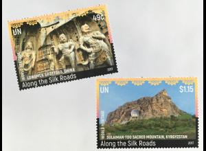 Ver. Nationen UN UNO New York 2017 Nr. 1630-31 UNESCO-Welterbe Seidenstrasse