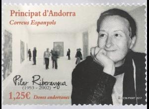 Andorra spanisch 2017 Michel Nr. 456 Pilar Riberaygua Kunst Museum Künstlerin