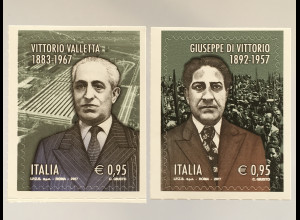 Italien Italy 2017 Michel Nr. 3990-91 Todestag Giuseppe Di Vittorio + Valletta