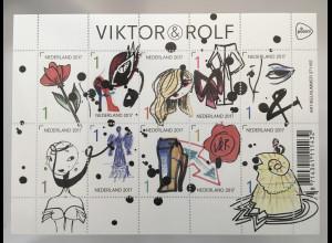 Niederlande 2017 Nr. 3642-51Viktor und Rolf Modeschöpfer Designer Mode Kleindung