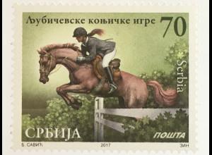 Serbien Serbia 2017 Nr. 752 Reiterspiele in Ljubicevo Reitsport Springreiten
