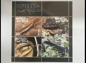 Tokelau Inseln 2017 Neuheit Reptilien Emoia Cyanura Fauna Tierwelt Reptiles