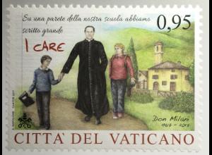 Vatikan Cittá del Vaticano 2017 Nr. 1908 Don Lorenzo Milani Priester Lehrer