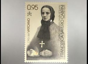 Vatikan Cittá del Vaticano 2017 Nr 1906 Heilige Franiska Xaveria Cabrini Orden