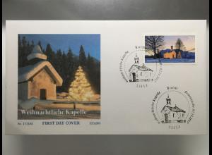 Bund BRD Ersttagsbrief FDC Nr. 3344 2. November 2017 Weihnachtliche Kapelle