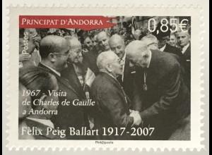 Andorra französisch 2017 Michel Nr 823 100. Geburtstag von Felix Peig Ballart