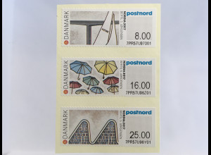 Dänemark Denmark 2017 ATM 108-10 Internationale Briefmarkenausstellung NORDIA