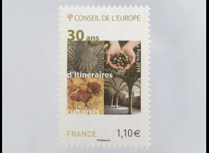 Frankreich France 2017 Michel Nr. 76 30 Jahre Kulturwege des Europarats