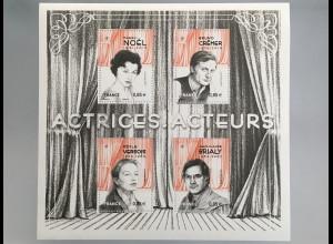 Frankreich France 2017 Block 381 Schauspieler Theater Kino Fernsehen Filmstars