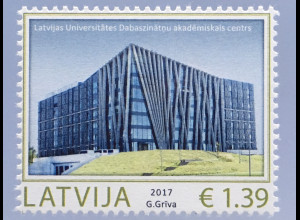 Lettland Latvia 2017 Nr. 1023 Moderne Architektur Bauwerke Akademisches Zentrum