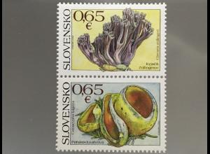 Slowakei Slovakia 2017 Michel Nr. 824-25 Pilze Flora Mykologie Prachtbecher