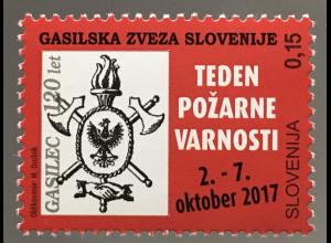 Slowenien Slovenia 2017 Nr. 82 Caritasmarken Feuerwehr