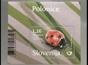 Slowenien Slovenia 2017 Block 99 Marienkäfer Faua Insekten Käfer Tierwelt