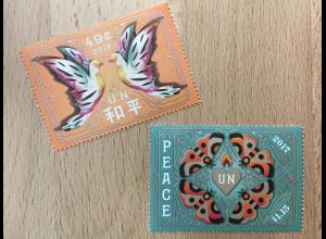 Ver. Nationen UN UNO New York 2017 Nr. 1638-39 Internationaler Tag des Friedens