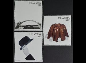 Schweiz Switzerland 2012 Michel Nr. 2262-64 50 Jahre Pop Art