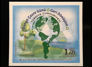 Türkei Turkey 2017 Block 163 Weltumwelttag - Recycling Umweltschutz Ökologie