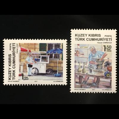 Zypern türkisch Cyprus Turkish 2017 Nr. 846-47 Traditionelle Berufe Süßwaren