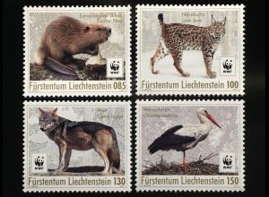Liechtenstein 2017 Nr. 1875-78 Einheimische Wildtiere WWF World Wild Found Fauna