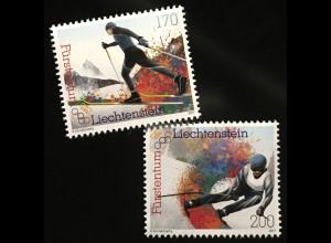 Liechtenstein 2017 Nr. 1884-85 Wintersport Skifahren Slalom Langlauf Skisport