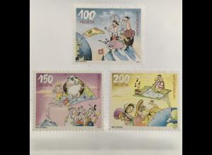 Schweiz 2017 Michel Nr. 2500-02 Postkartennetzwerk Postcrossing Comic