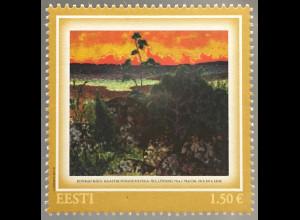 Estland EESTI 2017 Nr. 898 Konrad Mägi Kunst Gemäldeausgabe Aquarell Malerei