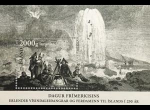 Island Iceland 2017 Block 65 Tag der Briefmarke 250. Jahrestag Islandexpedition