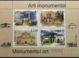 Kosovo 2017 Block 43 Monumentalkunst Hadum-Moschee Patriarchenkloster Giakova