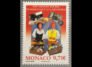 Monako Monaco 2017 Michel Nr 3363 Postkarten- und Münzbörse Grande Bourse