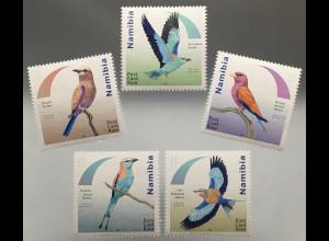 Namibia 2017 Nr. 1575-79 Racken Vögel Roller Ornithologie Zimtroller Vogelmotiv