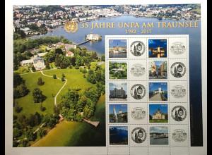 Verei. Nationen UNO Wien 2017 Nr. 993-1002 Grußmarken Postverwaltung Gmunden