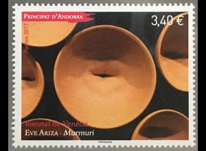 Andorra französisch 2017 Michel Nr 821 Internationale Kunstbiennale von Venedig