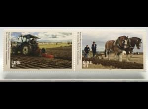 Irland 2017 Nr. 2235-36 Nationale Pflugmeisterschaft Landwirtschaft Landarbeit
