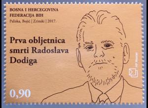 Bosnien Herzegowina Kroatische Post Mostar 2017 Nr 458 Todestag Radoslav Dogig
