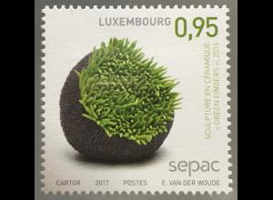 Luxemburg 2017 Michel Nr. 2137 SEPAC Handwerk Kunst Keramik Skulpturen