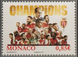 Monako Monaco 2017 Michel Nr 3367 Gewinn Fußballmeisterschaft AS Monaco