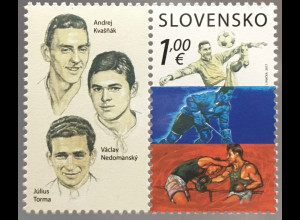 Slowakei Slovakia 2017 Nr. 821 Sport Kvasnak Nedomansky Torma