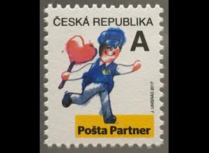 Tschechische Republik 2017 Nr 941 Freimarke Posta Partner externe Dienstleister