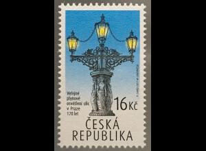 Tschechische Republik 2017 Nr 938 Techn. Denkmäler öffentliche Gasbeleuchtung