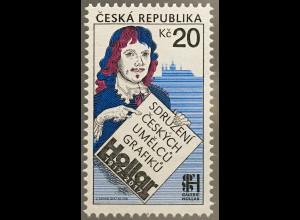 Tschechische Republik 2017 Nr. 942 Verein der tschechischen grafischen Künstler