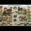 Tschechische Republik 2017 Block 65 Zoologische Gärten Wisent Schimpanse Löwe
